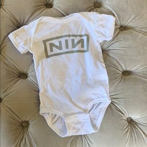 NIN Nine Inch Nails band tee onesie (6-9 months)